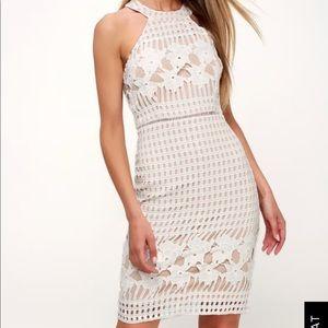 Lulu's White/Nude Dress